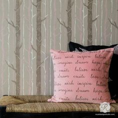 Video DIY Tutorial - Branch Out! How to Stencil a Tree Wallpaper Design with Large Wall Stencils - Royal Design Studio