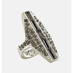 Avenue Hex Stone Stretch Ring (330 INR) ❤ liked on Polyvore featuring jewelry, rings, beaded jewelry, artificial jewellery, stretch rings jewelry, imitation jewelry and druzy jewelry