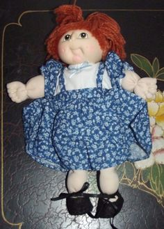 """Vintage Doll-Baby Martha Nelson Thomas Cabbage Patch Style Doll with Clothes 8"""" 