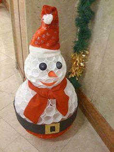 Bonhomme de neige en gobelets