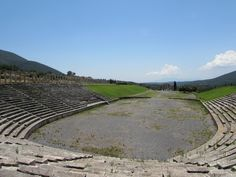 Messene – GREECE – Note the shape of the amphitheater.