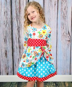 Look at this Koko Bean Red & Blue Polka Dot Butterfly Dress - Toddler & Girls on today! Toddler Girl Dresses, Little Girl Dresses, Girls Dresses, Toddler Girls, Girl Fashion, Fashion Outfits, Butterfly Dress, Blue Polka Dots, Gingham