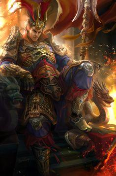 Dynasty warrior fanart - LuBu by Derrick Song | Fan Art | 2D | CGSociety