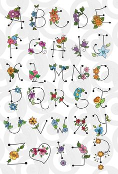 Wonderful Ribbon Embroidery Flowers by Hand Ideas. Enchanting Ribbon Embroidery Flowers by Hand Ideas. Hand Lettering Alphabet, Doodle Lettering, Creative Lettering, Lettering Styles, Calligraphy Letters, Pretty Fonts Alphabet, Ribbon Embroidery, Embroidery Stitches, Hand Embroidery Designs