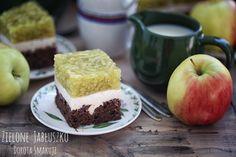 Dorota Smakuje: Ciasto z kremem i galaretką - Zielone Jabłuszko