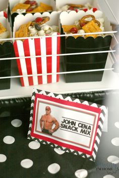 My oldest son is obsessed with wrestling right now, so he just had to have a WWE themed birthday party this year. Everyone loved the decorations and party favors too! Keep scrolling to see how we decorated our WWE birthday party. Wrestling Birthday Parties, Wrestling Party, Happy Birthday Parties, Wrestling Cake, Tea Parties, Birthday Wishes, Birthday Party Decorations Diy, Birthday Party Invitations, Birthday Party Themes