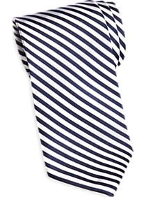 Tommy Hilfiger Navy & White Stripe Narrow Tie