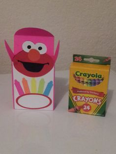 12 Elmo Crayon Party Gift Boxes on Etsy, $10.00