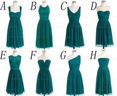 mismatched bridesmaid dresses, teal bridesmaid dress, short bridesmaid dresses