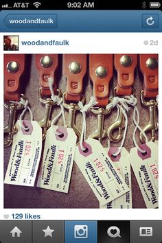 leather straps on hang tags