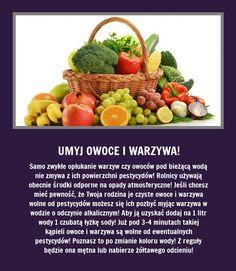 Pozbądź się pestycydów w warzyw i owoców - Podpowiadamy jak!!!