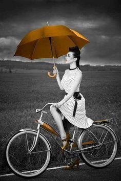 Splash me with color gold bike.