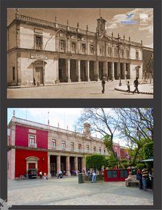 """El Aguascalientes de """"Ayer y Hoy"""".- Palacio Municipal.- Fondo Archivo General Municipal."""