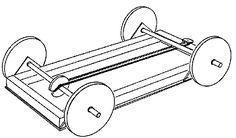 Elastiekmotor auto / Elastic motor car