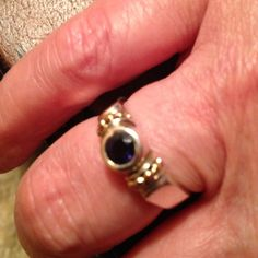 Lagos Amethyst  Reduced 2/21 A Stunning Lagos Amethyst Ring with 18k Gold and Sterling Silver! Very deep color amethyst in perfect condition, the band has some wear. Bundle with my other Amethysts pieces for a great price. Can be sized! Lagos Jewelry