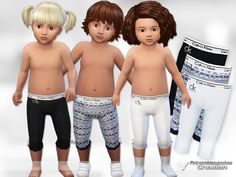 Sims 4 CC's - The Best: Designer Pyjama Pants for Toddler by PinkZombiecup...
