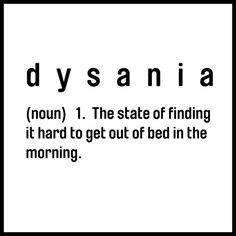 So there IS a word for it - Gawd, cause I need a crane to get out of bed!