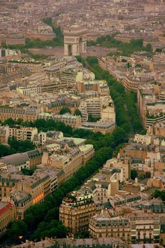 Arc de Triomphe from Eiffel Tower, Paris, France (by brothergrimm Places Around The World, Oh The Places You'll Go, Places To Travel, Places To Visit, Around The Worlds, Paris Travel, France Travel, Paris France, Paris Paris