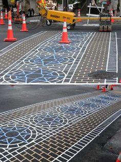 Lafayette Elementary's Crosswalk in Seattle, Washington - photo by West Seattle Blog, via weburbanist