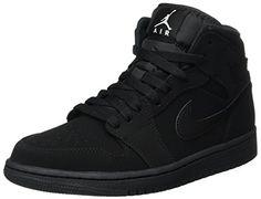new arrival 8e97f 294e1 Nike Men s Air Jordan 1 Retro Mid Basketball Shoe Black White-Black Men s Air  Jordan 1 Mid Shoe is inspired by the original AJ reminding