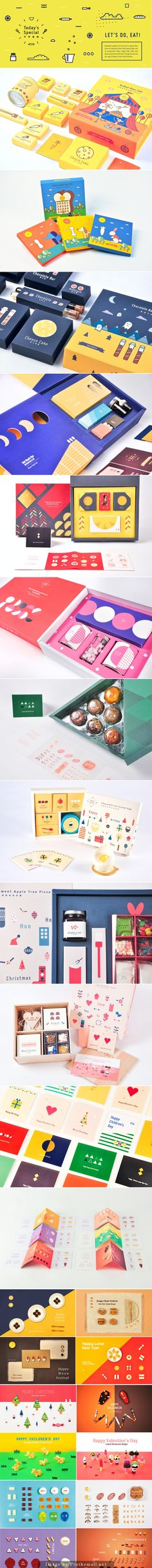 Assorted holiday food #packaging