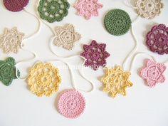 Lillian... crochet forever flower garland - vintage pastels   Emma Lamb