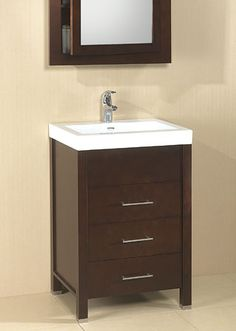 """Ronbow 23"""" with 3 drawers in dark cherry"""
