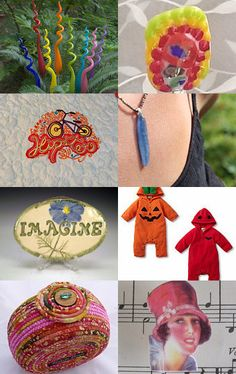Reds and Blues by Frank Nemick on Etsy--Pinned with TreasuryPin.com