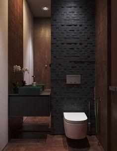 Modern Apartment in Moscow by Shamsudin Kerimov 20 - MyHouseIdea Washroom Design, Bathroom Design Luxury, Modern Bathroom Design, Modern Toilet Design, Bath Design, Bad Inspiration, Bathroom Inspiration, Bathroom Ideas, Bathroom Spa