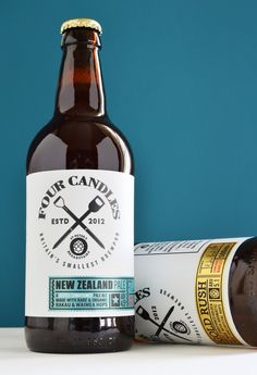 Four Candles Ale on Packaging of the World - Creative Package Design Gallery