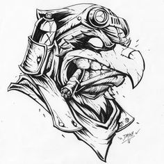 Savage empire 1 on behance cool sketches, cool drawings, tattoo sketches, t Cartoon Tattoos, Cartoon Drawings, Cool Drawings, Pencil Drawings, Cool Sketches, Tattoo Sketches, Drawing Sketches, Art And Illustration, Graphic Design Illustration