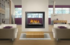 2 Sided Fireplace and Its Negative Sides : 2 Sided Gas Fireplace Insert. two sided fireplace Indoor Gas Fireplace, Direct Vent Gas Fireplace, Wood Burning Fireplace Inserts, Vented Gas Fireplace, Fireplace Hearth, Fireplace Surrounds, Fireplace Design, Double Fireplace, Artificial Fireplace
