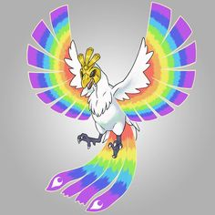 """120 Me gusta, 7 comentarios - Jackie Distel (@jackiedistel.art) en Instagram: """"All done!! Its a design for Ho-oh I decided to call """"Prism Form."""" #pokemon #fakemon #hooh…"""" Mega Pokemon, I Decided, Instagram, Design, Art, Art Background, Kunst, Performing Arts"""