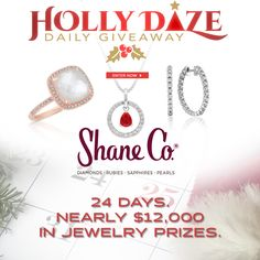Shane Co. is proud to be giving away nearly $12,000 in jewelry prizes this holiday season, with their extremely popular Holly Daze Daily Facebook #Giveaway! There is a new #jewelry prize everyday! Come enter for your chance to #win it! #sponsored http://oak.ctx.ly/r/23t41