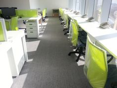 Long white bench facing the good view for the customer service team. (5)