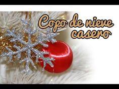 Copo de nieve casero paso a paso http://ini.es/1GDZCK5 #DIY, #Manualidades, #Navidad, #Video