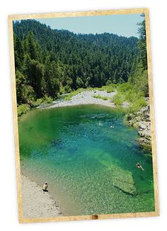 Rocky Rest Campground Swimming Hole - Weekend Sherpa: Consider making your trip an overnighter. Downieville is just a few miles up the road and is home to world-class mountain biking. The Lure Resort makes a great basecamp!  The Yuba River is about 3 hours northeast of San Francisco. Park at the Rocky Rest Campground on Hwy. 49, about 30 east of Nevada City (map). Dog-friendly!