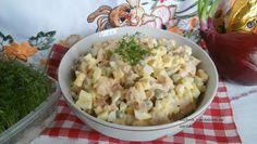 Sałatka jajeczna z kurczakiem wędzonym w sosie majonezowo chrzanowym. - wpis - Kuchnia z widokiem na ogród - LifeStylowo.pl