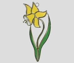Image result for stained glass daffodil