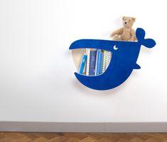 Regale - Wandregal zookids MOBY - ein Designerstück von julicadesign bei DaWanda