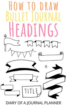 Read here for all the best easy-to-follow step-by-step bullet journal headers and banners to embellish the pages. #bulletjournalbanners #bulletjournalheaders #Bujo #Bulletjournaldoodles #bulletjournalideas #drawing #doodles