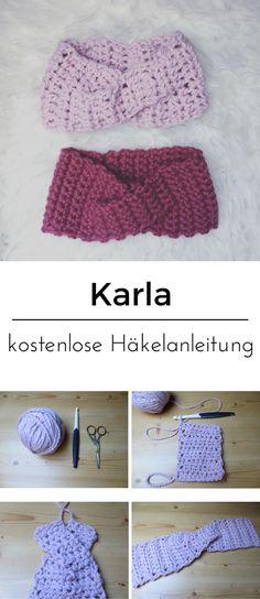 kostenlose Häkelanleitung für ein Stirnband mit Twist by LeoniaHickox.net #häkeln #häkelstirnband #häkelanleitung