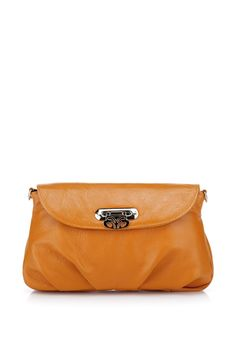 Lotus Clutch in Honey