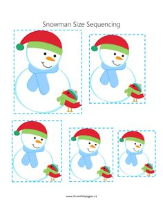 ranger du plus petit au plus grand et inverse ! Snow Activities, Winter Activities For Kids, Winter Crafts For Kids, Winter Fun, Preschool Christmas, Christmas Activities, Preschool Activities, Preschool Winter, Winter Thema