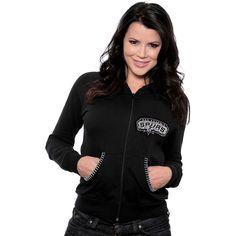 Majestic Threads San Antonio Spurs Women's California Hooded Fleece w/ Swarovski Crystals - NBAStore.com