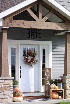 56 Rustic Farmhouse Front Porch Decorating Ideas You Will Love It . 56 Rustic Farmhouse Front Porch Decorating Ideas You Will Love It Small Front Porches, Farmhouse Front Porches, Rustic Farmhouse, Craftsman Decor, Craftsman Front Porches, Craftsman Exterior, Craftsman Style, Front Porch Addition, Front Porch Design