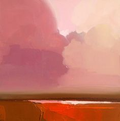 Ohio-based artist Robert Roth paints the vastness of the sky and the power of the sun, capturing the horizon as blue melts into shades of bright amber and soft rose. Abstract Landscape Painting, Landscape Art, Landscape Paintings, Landscape Design, Abstract Art, Abstract Portrait, Portrait Paintings, Watercolor Landscape, Paintings I Love