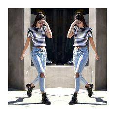 Casual Style para uma segunda descontraída! Kendal Jenner arrasando!  #casual #style #fashion #moda #modaparameninas #strippes #kendaljenner #kendalstyle #jenners #kardashiansstyle #ootd #lookdodia #inspiraçao #instablog #fashionblog #quero