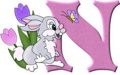 Alfabeto del conejito Tambor de Disney...N