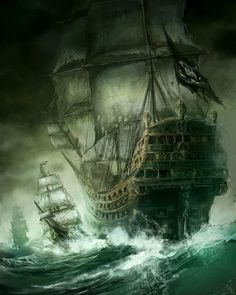 """Bringing Pirate Fantasy Romance To My Readers! Releasing Summer or Fall Fictional world ✔️ Pirates ✔️ Romance ✔️ Suspense ✔️ The gorgeous Captain """"Dragon"""" Lincoln ✔️ Fantasy kingdom ✔️ Mermaids ✔️ Fairies ✔️ Elves ✔️ Kings and Queens ✔️ Pirate Art, Pirate Life, Pirate Ships, Pirate Crafts, Tattoo Barco, Old Sailing Ships, Ship Of The Line, Ghost Ship, Ship Paintings"""